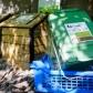 Plusieurs bacs pour déchets ménagers