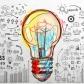 Illustration avec au centre une ampoule et autour plusieurs dessins qui ressemblent à un enchaînement d'idées